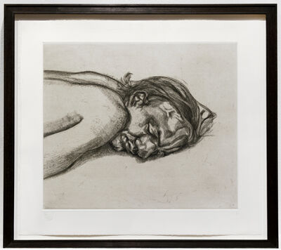 Lucian Freud, 'Man Resting (State II)', 1988