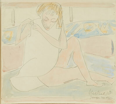 Erich Heckel, 'Untitled (Young Girl in White Chemise)'