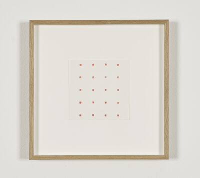 Robert Barry, 'Untitled (20 solid red squares)'