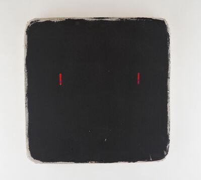 Otis Jones, 'Black Square with 2 Red Lines', 2019