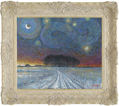 John Myatt, 'Starry Night with Snow and Distant Woodland', 2017