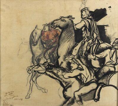 """Renato Guttuso, 'Study for """"Il Ponte dell'Ammiraglia""""', 1951-55"""