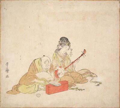Kitagawa Utamaro, 'Benten Playing Shamisen', ca. 1798