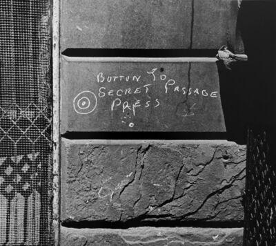 Helen Levitt, 'N.Y.C. (Button to Secret Passage)', ca. 1939