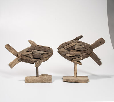 Bernard Langlais, 'Two Driftwood Fish Sculptures'