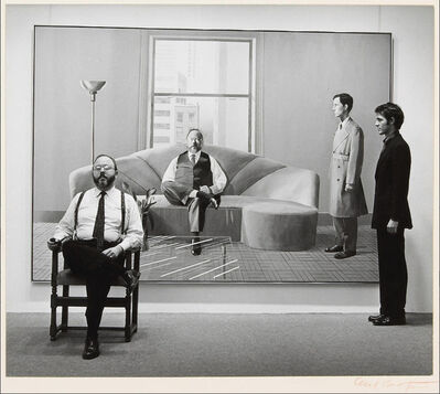 Cecil Beaton, 'Henry Geldzahler and Christopher Scott in front of David Hockney Painting', 1975