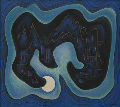 Emil Bisttram, 'Moon Magic', 1950