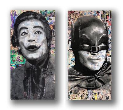 Mel Balatbat, 'Joker & Batman Diptych', 2020