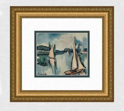 Maurice de Vlaminck, 'Sailboats on the Seine', 1908