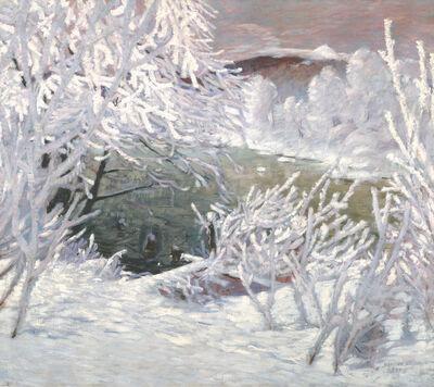Sebastian Isepp, 'Riverbank in White Frost', 1909-1910