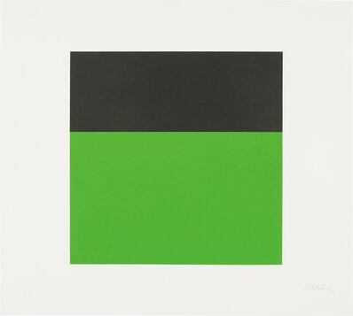 Ellsworth Kelly, 'Black/Green', 1970