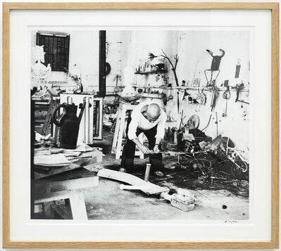 André Villers, 'Picasso, atelier du Fournas [Picasso at Le Fournas], Vallauris', 1953