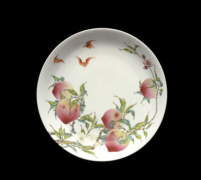 'Dish with peaches and bats design', 1723-1735