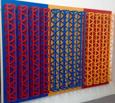 Rasheed Araeen, 'Teen Rungh Upper Nechay (Triptych)', 2016