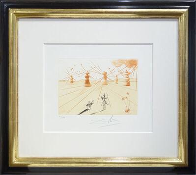 Salvador Dalí, 'Don Quichotte et les moulins á vent (Don Quijote und die Windmühlen)', 1980