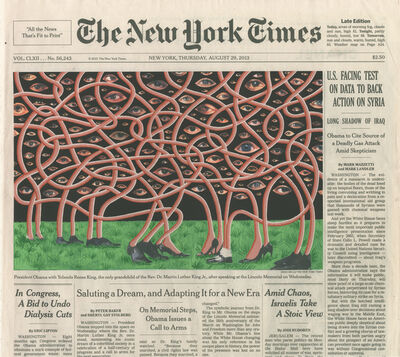 Fred Tomaselli, 'August 29th, 2013', 2014