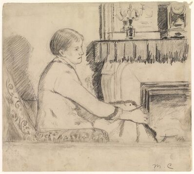 "Mary Cassatt, 'Drawing for ""Before the Fireplace""', ca. 1880 -1882"