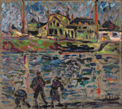 Erich Heckel, 'Übigauwerft (Dresden)', 1907