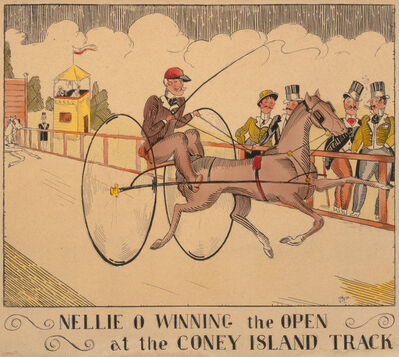 C. P. Meier, 'Nellie O Winning the Open at the Coney Island Track', 1931