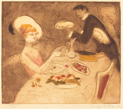 Georges Bottini, 'Woman Having Supper', 1903