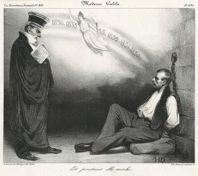 Honoré Daumier, 'Moderne Galilée. Et pourtant elle marche. A Modern Galileo: And yet it moves.', 1834