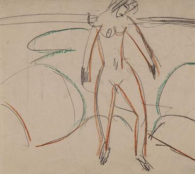 Ernst Ludwig Kirchner, 'Badende am Strand (Fehmarn) (Bathing Woman at the Beach (Fehrmarn))', 1912