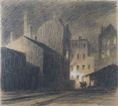 Willy Oertel, 'Nachts in der Stadt / Night in the City', ca. 1912