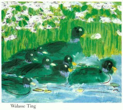 Walasse Ting 丁雄泉, '8 Green Ducks', (Date unknown)