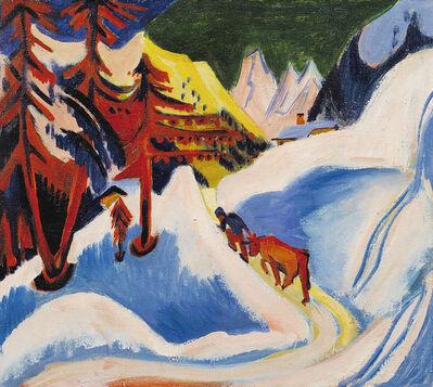 Ernst Ludwig Kirchner, 'Winter in Davos', ca. 1921-1923