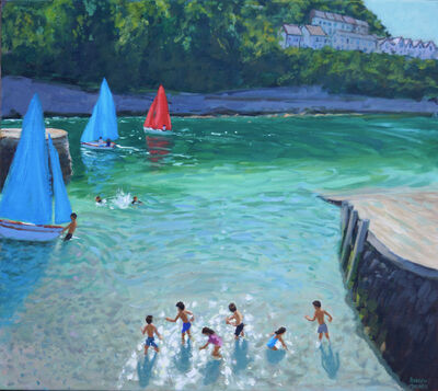 Andrew Macara, 'Skimming Stones, Looe, Cornwall'