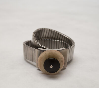 Gillian Carrara, 'Stainless Bracelet with Horn and Bone Element', 2012