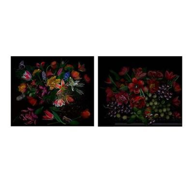 Zoltan Gerliczki, 'Still Life With Grapes and Still With Butterflies, Diptych', 2019