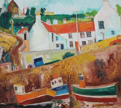 John Bellany R.A., 'Crail Harbour', 1997