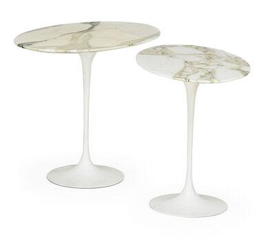 Eero Saarinen, 'Pair of oval tulip tables, New York/Italy', 2000s