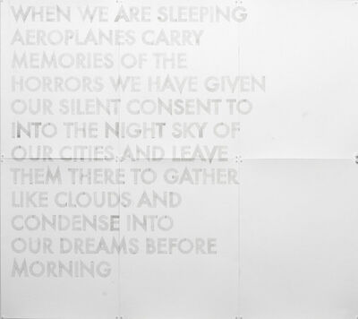 Robert Montgomery, 'When We Are Sleeping'