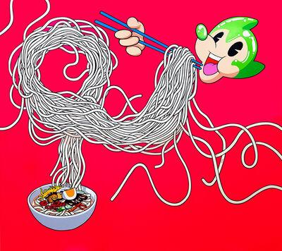 Lee Dongi, 'Atomaus Eating Noodles', 2020