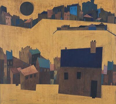 S. H. Raza, 'Haut de Cagnes', 1951