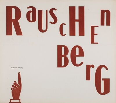 Robert Rauschenberg, 'Solo exhibition', 1959