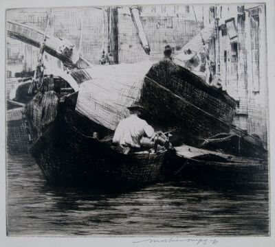 Mortimer Menpes, 'Fishing, Venice', ca. 1910