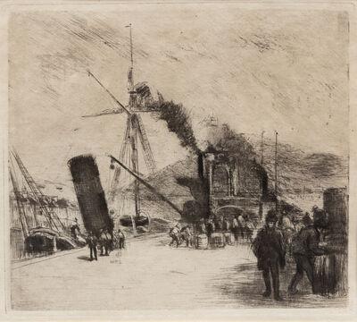 Camille Pissarro, 'Port de Rouen', 1885