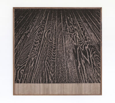 Analia Saban, 'Wooden Floor on Wood (One-Point Perspective)', 2017