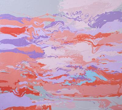 Leah Durner, 'darkpinkvioletbeigegrey pour', 2015