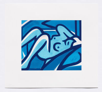 Tom Wesselmann, 'Blue Nude', 2000