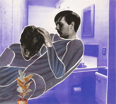 Christian Holstad, 'Purple Bathroom with Close Up of Couple and Plant', 2002