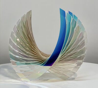 Tom Marosz, ''Baby Wings in Starfire Dichroic' Abstract Glass Sculpture', 2020