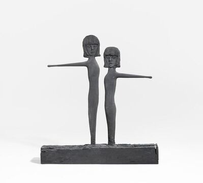 Mark Manders, 'Two Wooden Girls with Yellow Drumsticks', 2012