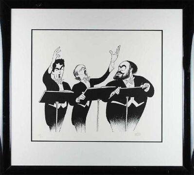Al Hirschfeld, 'The Three Tenors 1996', 1996