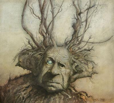 Brian Froud, 'Three Headed Man Fantasy illustration', 1973
