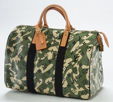Takashi Murakami, 'Louis Vuitton Limited Edition Green Monogramouflage Canvas Speedy 35 Bag', 2008