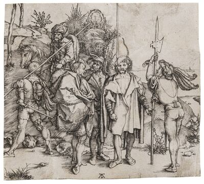 Albrecht Dürer, 'Five Soldiers and a Turk on Horseback', circa 1495